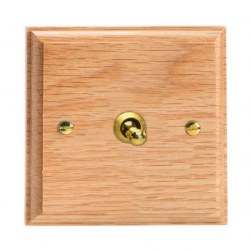 Varilight XKT1O Kilnwood Oak 1 Gang 10A 1 or 2 Way Toggle Light Switch